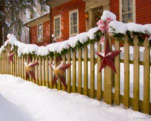 Christmas Stars Fence