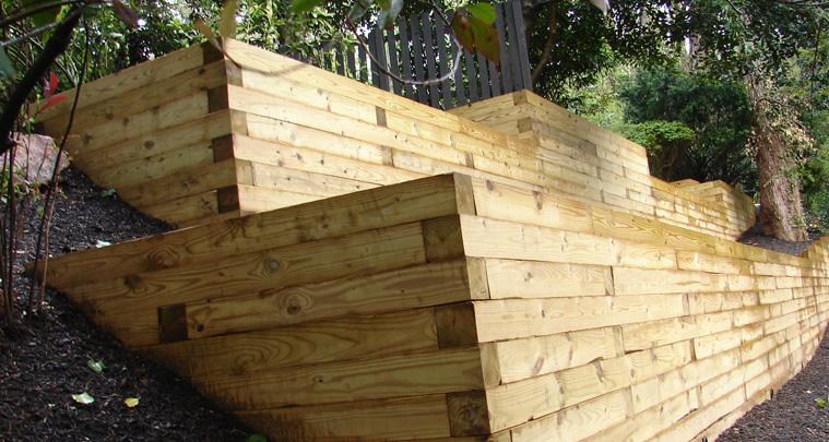 Wood Retaing Walls Serving Dc Md Va Capital Fence